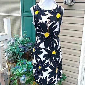 Beautiful black and yellow print dress